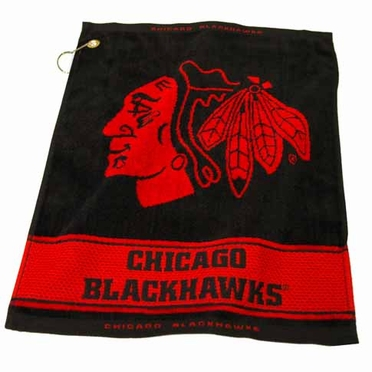 Chicago Blackhawks Woven Golf Towel