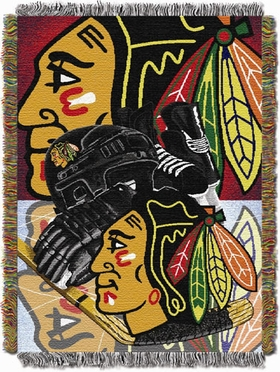 Chicago Blackhawks Woven Tapestry Blanket