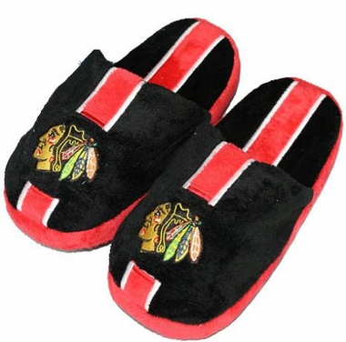 Chicago Blackhawks YOUTH Team Stripe Slide Slippers