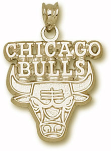 Chicago Bulls 10K Gold Pendant