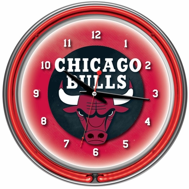 Chicago Bulls 14 Inch Neon Clock