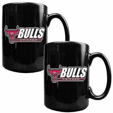 Chicago Bulls 2 Piece Coffee Mug Set (Wordmark)