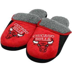 Chicago Bulls 2012 Sherpa Slide Slippers - Large