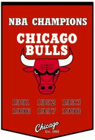 "Chicago Bulls 24""x36"" Dynasty Wool Banner"