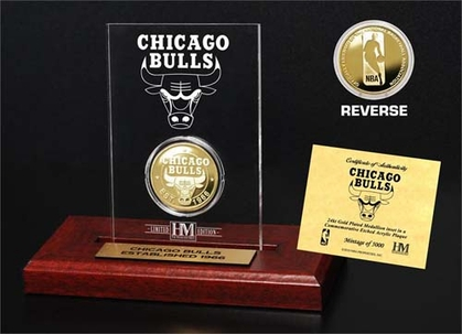 Chicago Bulls Chicago Bulls 24KT Gold Coin Etched Acrylic