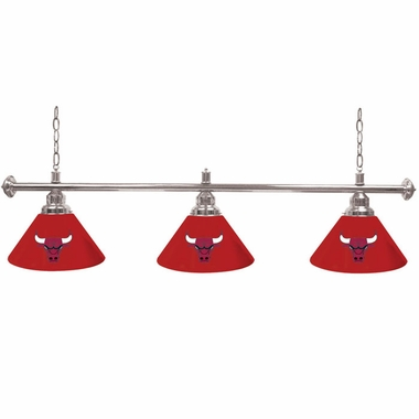 Chicago Bulls 3 Shade Billiard Lamp