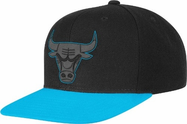Chicago Bulls Adidas Neon Brim Snap Back Hat (Blue)