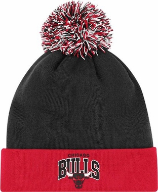 Chicago Bulls Arched Logo Vintage Cuffed Pom Hat