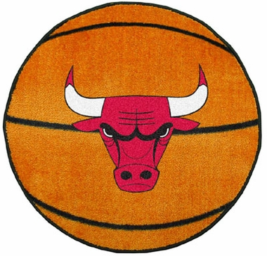 Chicago Bulls 27 Inch Basketball Shaped Rug