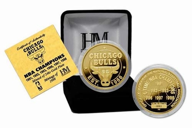Chicago Bulls Chicago Bulls 6 Time Champions 24KT Gold Coin