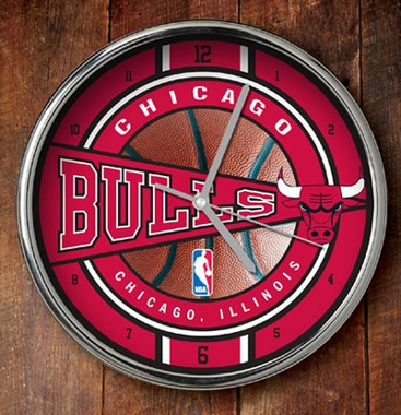Chicago Bulls Chrome Clock