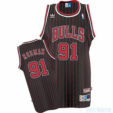 Chicago Bulls Dennis Rodman Alternate Throwback Replica Premiere Jersey
