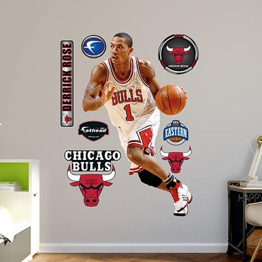 Chicago Bulls Derrick Rose Fathead Wall Graphic