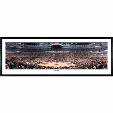 Chicago Bulls Foul Shot Framed Panoramic Print