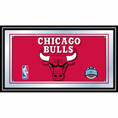 Chicago Bulls Framed Logo Bar Mirror