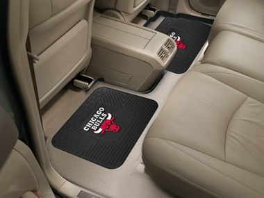 Chicago Bulls SET OF 2 Heavy Duty Vinyl Rear Car Mats