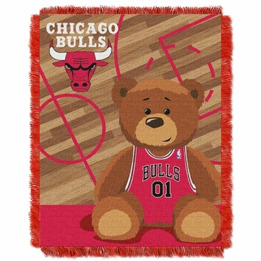 Chicago Bulls Jacquard BABY Throw Blanket