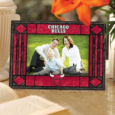 Chicago Bulls Landscape Art Glass Picture Frame