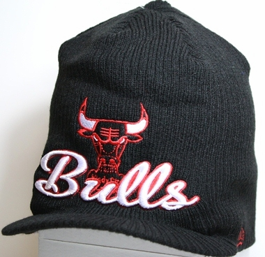 Chicago Bulls New Era NBA Retro Viza Visor Knit Hat