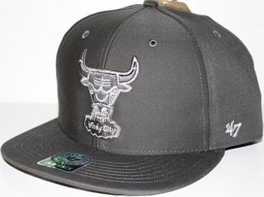 Chicago Bulls Oath Metallic Snap Back Hat (Charcoal)