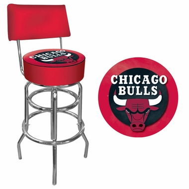 Chicago Bulls Padded Bar Stool with Back