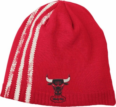 Chicago Bulls Retro Cuffless Distressed Striped Knit Hat
