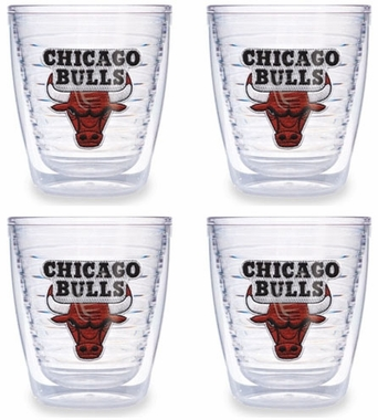 Chicago Bulls Set of FOUR 12 oz. Tervis Tumblers