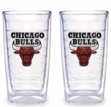 Chicago Bulls Set of TWO 16 oz. Tervis Tumblers