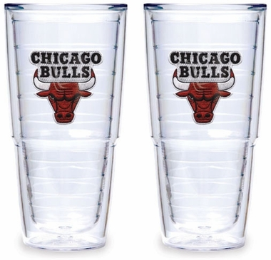 Chicago Bulls Set of TWO 24 oz. Tervis Tumblers