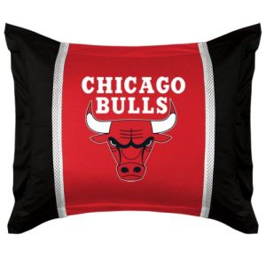 Chicago Bulls SIDELINES Jersey Material Pillow Sham