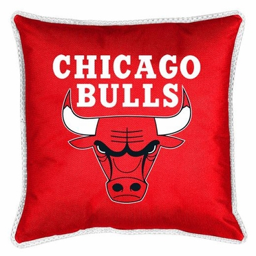 Chicago Bulls SIDELINES Jersey Material Toss Pillow