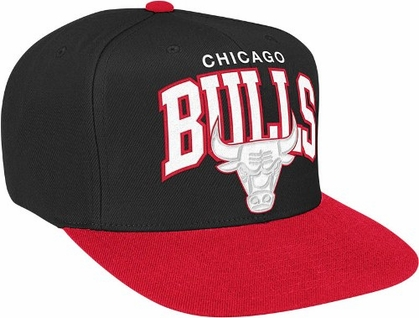 Chicago Bulls Snap Back Hat (White Logo)