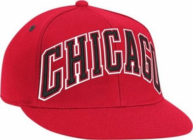 Chicago Bulls Vintage Wordmark Flat Bill Flex Hat
