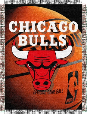 Chicago Bulls Woven Tapestry Blanket