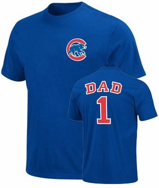 Chicago Cubs #1 Dad T-Shirt