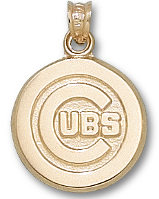 Chicago Cubs 10K Gold Pendant