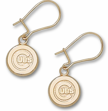 Chicago Cubs 10K Gold Post or Dangle Earrings