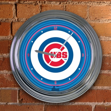 Chicago Cubs 15 Inch Neon Clock
