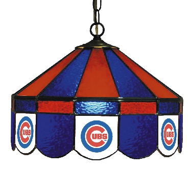 Chicago Cubs 16 Inch Diameter Stained Glass Pub Light