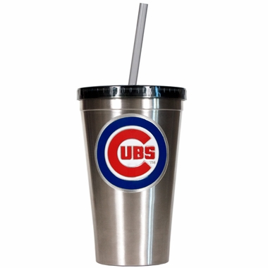 Chicago Cubs 16oz Stainless Steel Insulated Tumbler with Straw