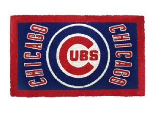 Chicago Cubs 18x30 Bleached Welcome Mat