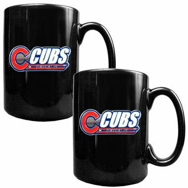 Chicago Cubs 2 Piece Coffee Mug Set (Wordmark)