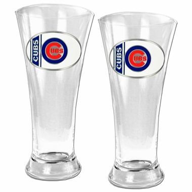 Chicago Cubs 2 Piece Pilsner Glass Set