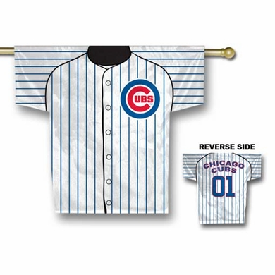 Chicago Cubs 2 Sided Jersey Banner Flag (F)