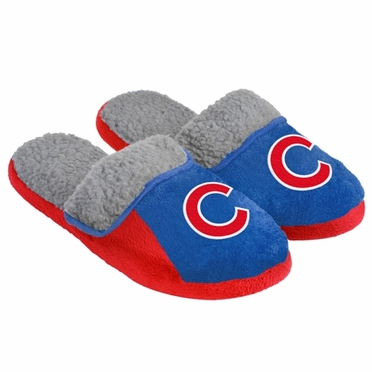 Chicago Cubs 2012 Mens Sherpa Slide Slippers