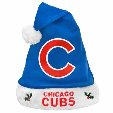 Chicago Cubs 2012 Team Logo Plush Santa Hat