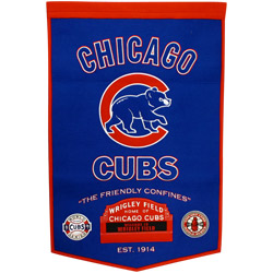 "Chicago Cubs 24""x36"" Dynasty Wool Banner"