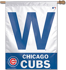 """Chicago Cubs 27x37 """"W"""" Banner"""