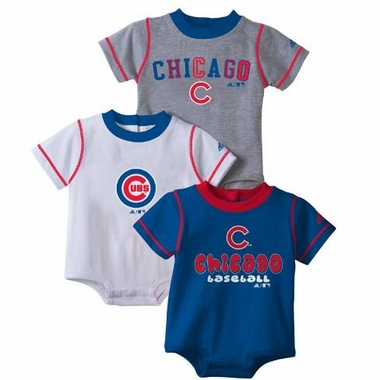 Chicago Cubs 3 Pack Creeper Set