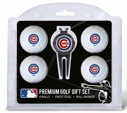 Chicago Cubs 4 Ball and Tool Gift Set